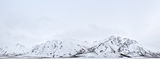 panoramic, landscape, snow, winter, blackstone, mountains, monochrome, yukon, canada, paysage, panoramique, neige, hiver