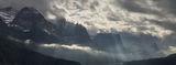 Panoramic, landscape, Glacier, Autumn, storm, light, clouds, montana, panoramique, paysage, orage, automne