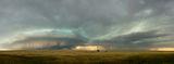 Panoramic, landscape, sunset, storm, clouds, lightning, plains, South Dakota, grassland, panoramique, photographie, orage, plaines