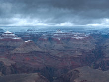 Panoramic, landscape, photography, Grand Canyon, Arizona, Winter, snow, storm, neige, hiver, panoramique