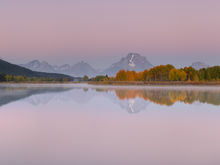 Panoramic, landscape, fall colours, autumn, snake river, oxbow bend, sunrise, Grand Teton, Wyoming, panoramique, paysage, automne, lever de soleil