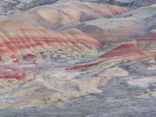 Panoramic, landscape, painted hills, Oregon, twilight, sunset, pastels, bentonite, panoramique, paysage, couleurs