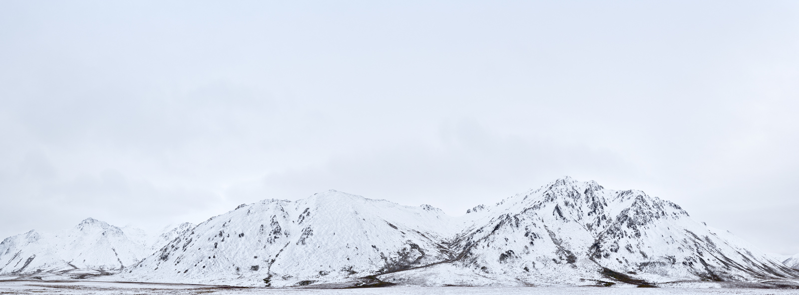 panoramic, landscape, snow, winter, blackstone, mountains, monochrome, yukon, canada, paysage, panoramique, neige, hiver, photo